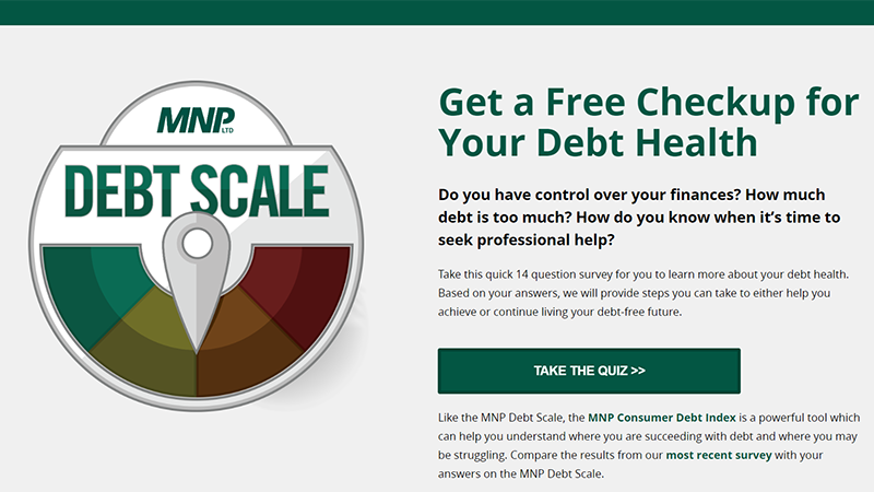Debt Scale screen grab