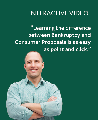 Interactive Video: Learning the difference between Bankruptcy and Consumer Proposals is as easy as point and click.
