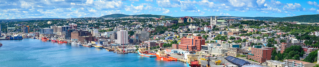 Downtown St. John's coastal line